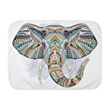 Royal Lion Baby Blanket White Patterned Elephant
