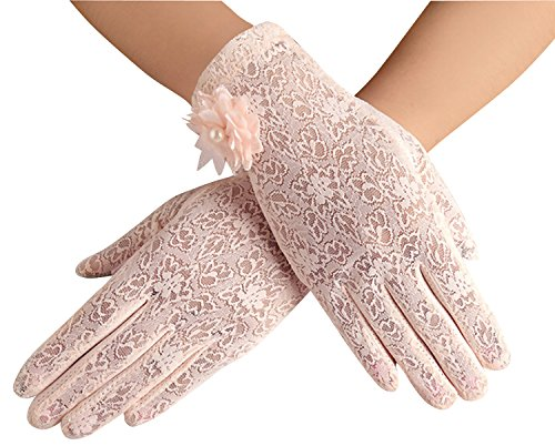 Women's Lace Gloves Summer Sun Glove Driving Screentouch Gloves