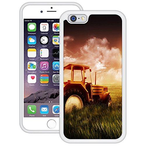 Traktor | Handgefertigt | iPhone 6 6s (4,7') | Weiß TPU Hülle