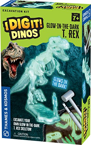 Thames & Kosmos 630409 I Dig It Dinos-Glow-in-The-Dark T. Rex Excavation Kit Science Experiment