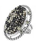 Brighton Crystal Rocks Silver Metallic Ring