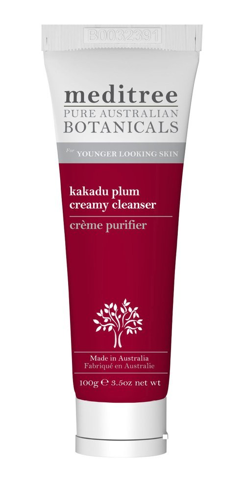 Meditree Kakadu Plum Creamy Cleanser with Desert Lime | Gentle Cleansing Cream | Remove Excess Oil and Daily Residue for Clean, Clear Skin | 100g Tube