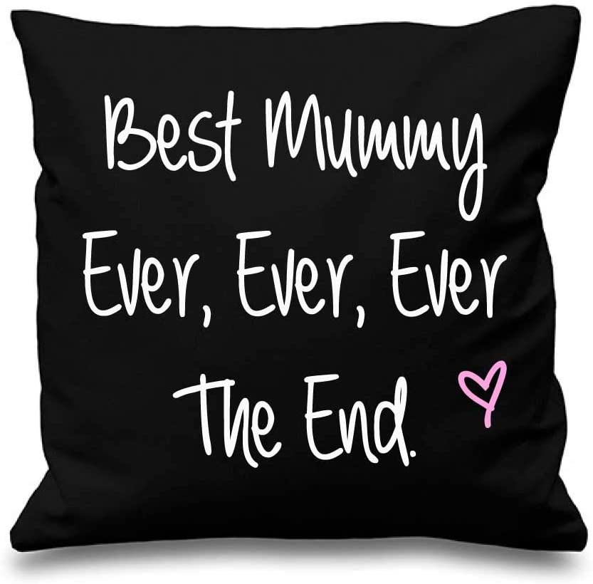Black Cushion Cover Best Mummy Ever Ever Ever The End 16 x ...