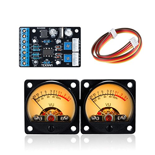Nobsound 2PC Audio Power Amplifier Panel VU Meter DB Level LED Header + 1PC Driver Board Module - Vu Led Meter Stereo