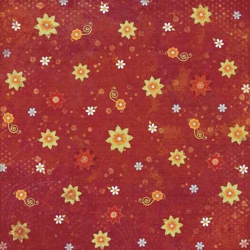 KAREN FOSTER 64281 Summer Flowers Design Printed Paper Pack, 25 Sheets by KAREN FOSTER
