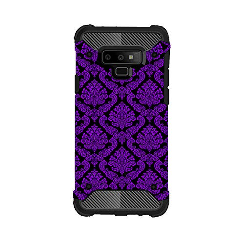 Samsung Galaxy Note 9 Slim Hybrid Phone Case by InfoposUSA Purple Black ()