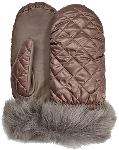 (UGG Women's Quilted All Weather Water Resistant Tech Mitten Stormy Grey SM/MD)