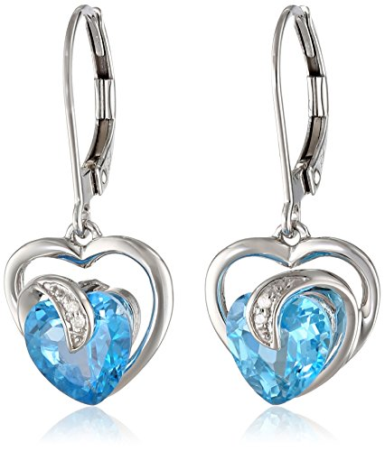 Prices for Diamond Heart Leverback Earrings - 7