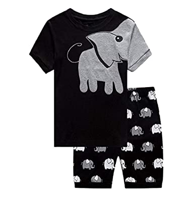 0bebcbd8b9dc Taylorean 0-6 Years Old Newborn Infant Baby Boys Short Sleeve Clothes Set  Elephant Print