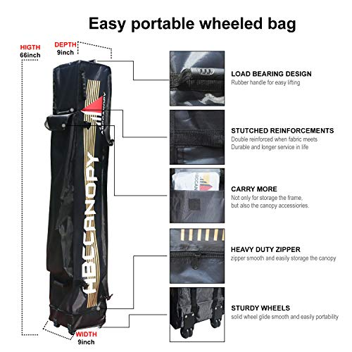 ABCCANOPY Commercial Carrying Bag,Black