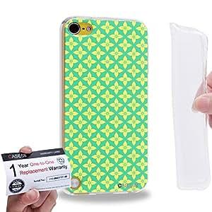 Case88 [Apple iPod Touch 5] Gel TPU Carcasa/Funda & Tarjeta de garantía - Art Carpet And Tapestry Lime 2008