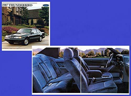 1987 FORD THUNDERBIRD STANDARD, SPORT, LX & TURBO COUPE PRESTIGE VINTAGE COLOR SALES BROCHURE - 011-Ann. 8/86 - USA - FABULOUS ORIGINAL !!