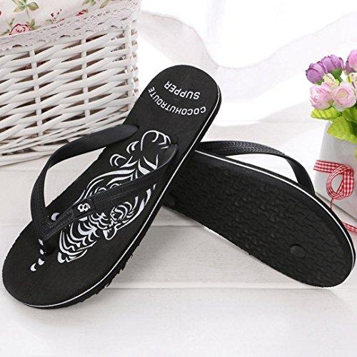 40 Flip Goodsatar Negro Exterior 44 o Hombres De Hombre Sandalias Interior Zapatillas Verano Zapatos Flops WBnaWC