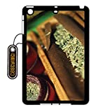 CASEYIMEI Country American Flag Marijuana Cannabis Weed Hemp Leaf Smoker Custom made Design Black Plastic Cell Phone Cases Cover for iPad Mini (2) case iPad Mini case