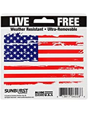 "Sunburst Systems 6028 Distressed Patriotic Flag Decal, 4.5"" x 3""-1 ct, Assorted"