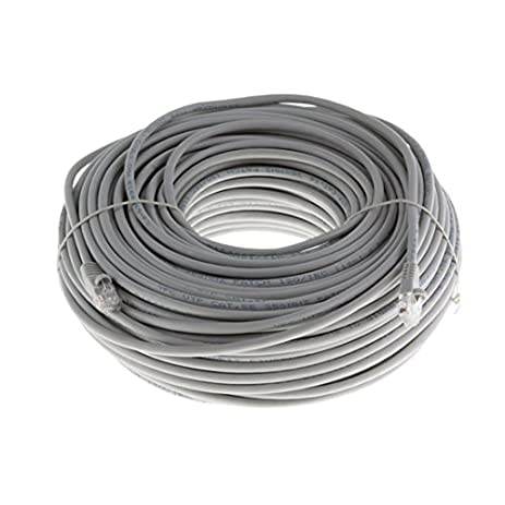 50 FT CAT6 Patch Cable Gray Snagless 23 AWG Copper 550 MHz RJ45 23 AWG