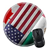 MSD Natural Rubber Mousepad IMAGE ID 32559273 Close up of the flags of the North American Free Trade Agreement NAFTA members on textile texture NAFTA is the world