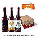 24 pack Cervezas Concordia mix. 8 Ángel Caído, 8 Zafra, 8 Concordia Dry Stout