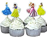 BETOP HOUSE Set of 24 Pieces Snow White Theme Cake Cupcake Decorative Cupcake Topper for Kids Birthday Party Themed Party Baby Shower