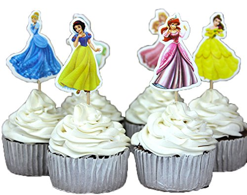 House Cake - BETOP HOUSE Set of 24 Pieces Snow White Theme Cake Cupcake Decorative Cupcake Topper for Kids Birthday Party Themed Party Baby Shower