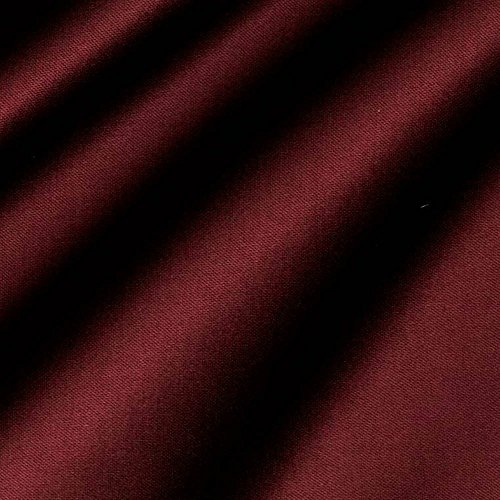 Burgundy Satin Fabric 60'' Inch Wide – 50 Yards By Roll (FB) by Fabric Bravo
