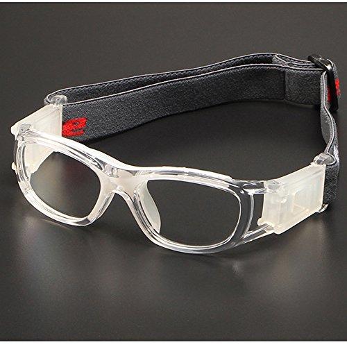 Collision Ball - Children Sports Goggles,Kids Basketball Football Sports Anti Shock Collision PC Lens Protective Eye Glasses (White)