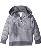 Zutano Unisex-Baby Infant Waffle Cozie Fleece Wrap Hoodie