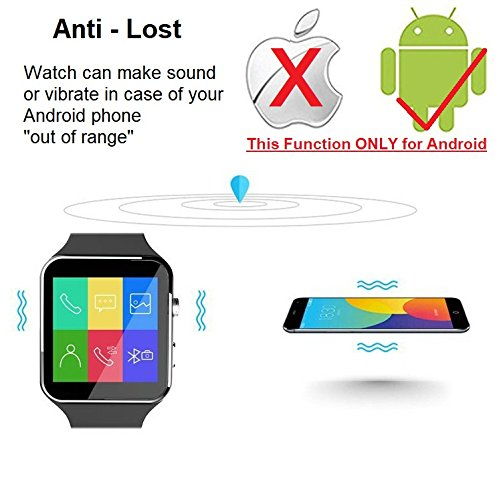 CNPGD [U.S. Office & Warranty Smart Watch] All-in-1 Smartwatch Watch Cell Phone for Android, Samsung, Galaxy Note, Nexus, HTC, Sony (Black, M) by CNPGD (Image #10)