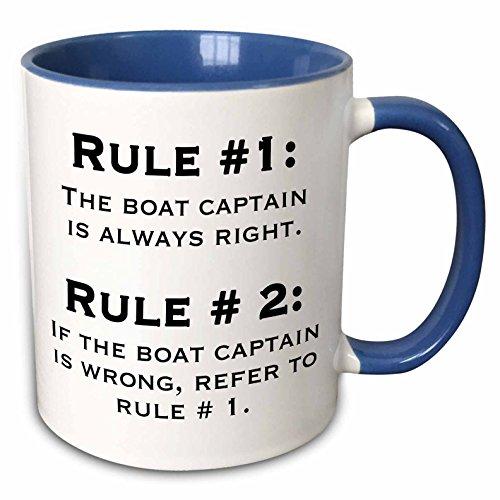 (3dRose 159650_6 Boat Captain Rules Mug 11 oz)