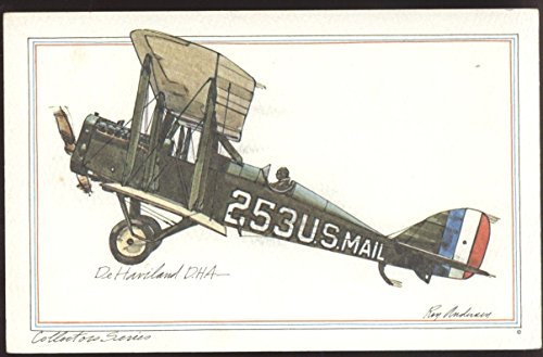 DeHaviland DH4 Biplane WWI bomber De Havilland Airplane Postcard