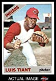 1966 Topps # 285 Luis Tiant Cleveland Indians (Baseball Card) Dean's Cards 5 - EX Indians