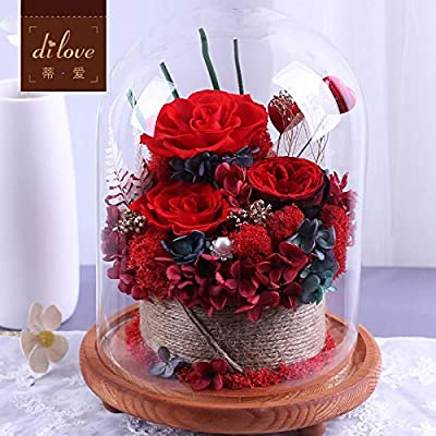 Flor Eterna Caja De Regalo Rosa Cubierta De Vidrio ...