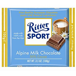Ritter Sport Alpine Milk Chocolate Bar
