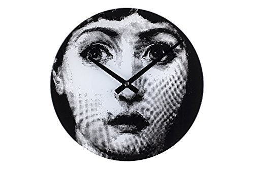 Stilnovo Mid Century Girl Wasn't Me Wall Clock, Black/White
