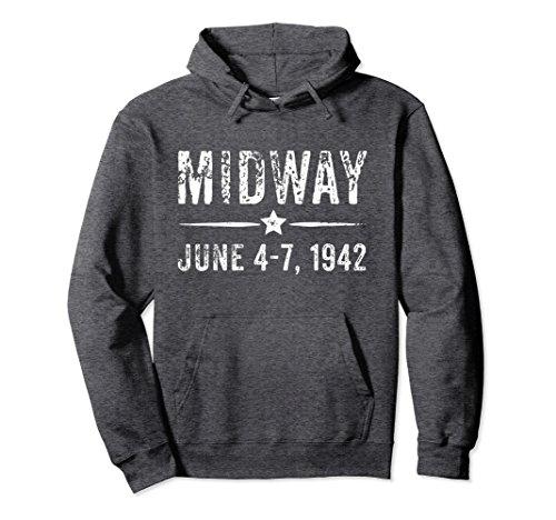 Commemorative Hoody (Unisex Midway Hoodie - Commemorative Battle of Midway Gift Medium Dark Heather)