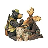 Moose & Black Bear Arm Wrestling Statue Design Moose Black Bear Bear