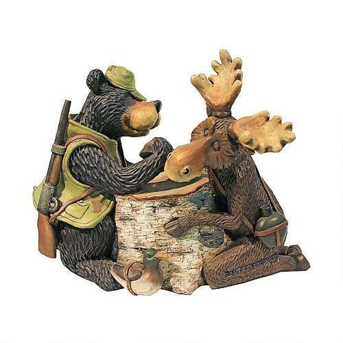 Moose & Black Bear Arm Wrestling Statue Design Moose Black Bear Bear by Statues