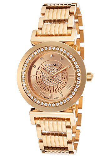 Versace P5Q81SD999 S080 Stainless Steel Gold Women's Analog