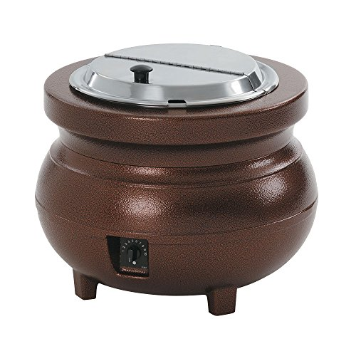 Vollrath Colonial Kettle (Vollrath 72166 Colonial 11 qt. Antique Copper Kettle Soup Warmer / Merchandiser - 120V, 700W)