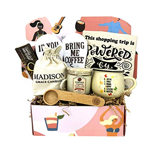 Gift Box for Mother by Silly Obsessions. Birthday Gift Basket for Mom, Wife. Gift Box Set for New Mom, Baby Shower. (Mother's Box Coffee)