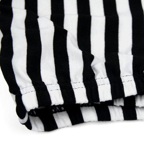 Et Blanc Femme Sexy Tendance Pantalon Vertical Pour Chinkyboo Rayé Noir Legging Longue fwCqnTY5T