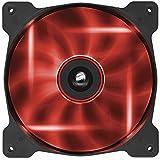 Corsair AF140 LED Quiet Edition Ventilador para Gabinete, Color Rojo
