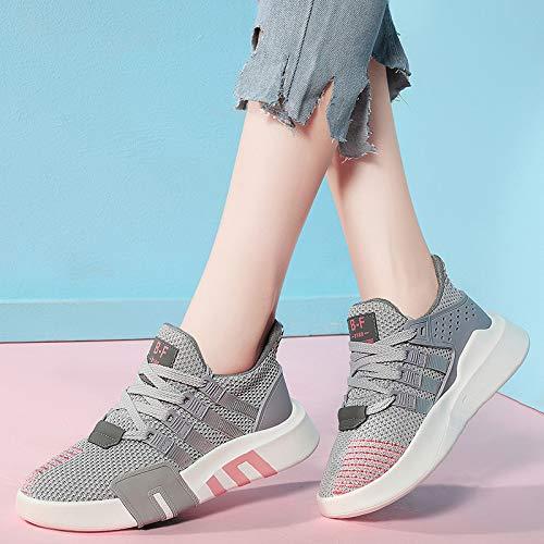 de gray Hasag Femme Sport Chaussures Chaussures Mesh Respirant de Chaussures Nouveau Sport gTwPTq5