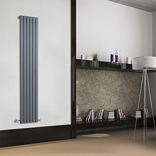 Hudson Reed Sloane Radiador de Diseño Vertical - Antracita - 1600mm x 354mm x 54mm - 861 Vatios: Amazon.es: Bricolaje y herramientas