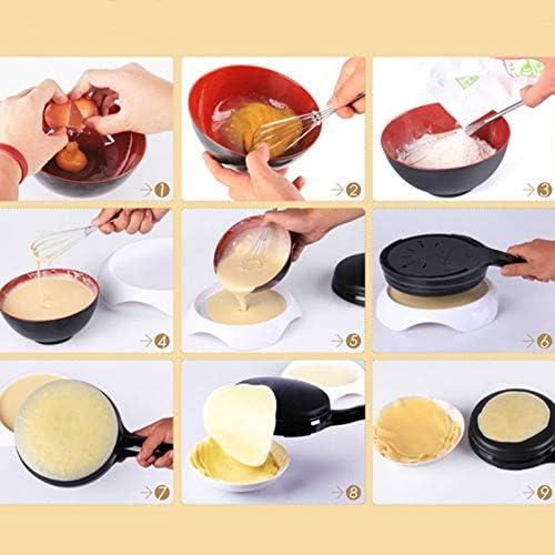 Plaque de cuisson électrique Mini Crêpière Électrique Pizza Crêpe Poêle De Cuisson Cuisine Antiadhésive Biscuit Plaque Chauffante Chinois Rouleau De Printemps Machine De Cuisson