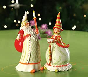 Patience Brewster Santa and Mrs Claus Salt and Pepper Shakers