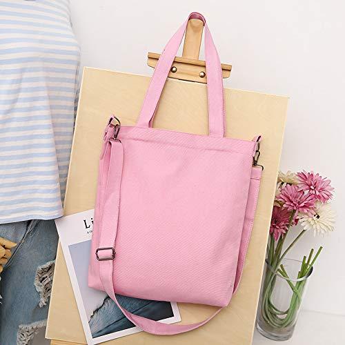 de color de Yuloen la lona bandolera mujer Bolso bolsa gran bandolera rosa desmontable compra flamenco para capacidad T1gPwx1Z