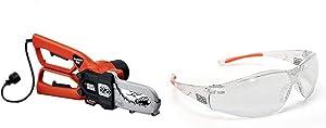 BLACK+DECKER Lopper Chain Saw, 4.5-Amp with Safety Eyewear, Lightweight, Clear lens (LP1000 & BD250-1C)