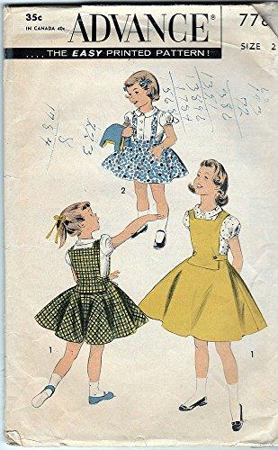 [Advance 7783; ca.1956; Circle Suspender Skirt; Size 2] (Advance Skirt)