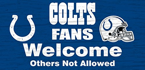 Indianapolis Colts Wood Sign - Fans Welcome - Outlets Indianapolis